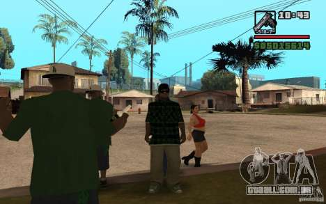 Grove Street Skin Pack para GTA San Andreas terceira tela