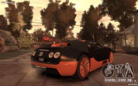 Bugatti Veyron Super Sport 2010 para GTA 4 esquerda vista