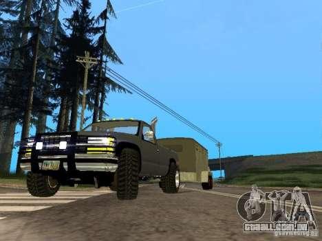 Trailer para o Chevrolet Silverado 2012 para GTA San Andreas esquerda vista