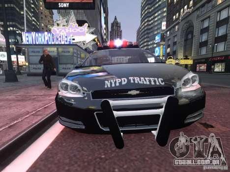 Chevrolet Impala 2006 NYPD Traffic para GTA 4 esquerda vista