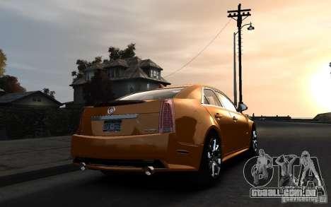 Cadillac CTS-V 2009 para GTA 4 esquerda vista