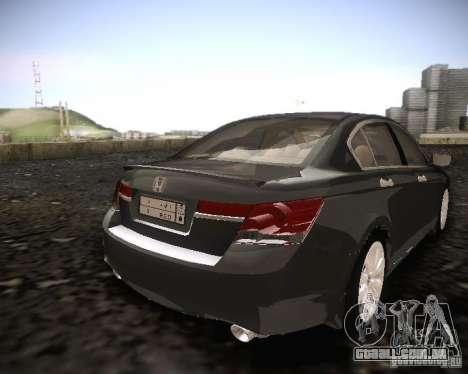 Honda Accord 2011 para GTA San Andreas traseira esquerda vista