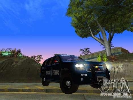 Chevrolet Tahoe 2008 Police Federal para GTA San Andreas vista traseira
