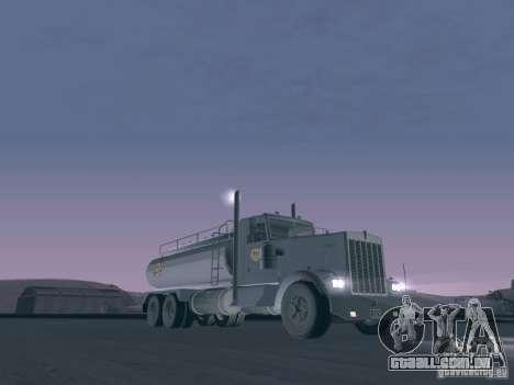 Kenworth Petrol Tanker para GTA San Andreas esquerda vista