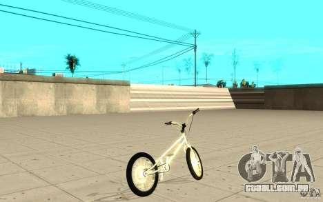 Trail Bike Chrome para GTA San Andreas traseira esquerda vista