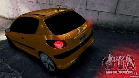 Peugeot 206 para GTA 4 esquerda vista