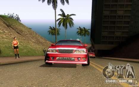 Toyota Chaser JZX100 para GTA San Andreas vista interior