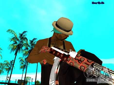 Trollface weapons pack para GTA San Andreas por diante tela