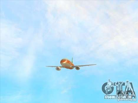 Sukhoi Superjet-100 para vista lateral GTA San Andreas