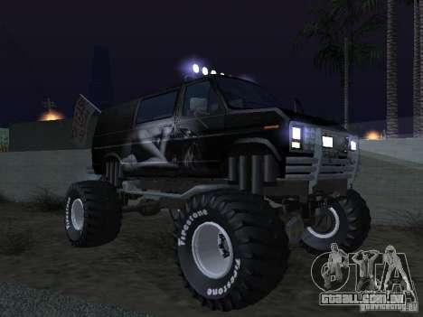 Ford Grave Digger para GTA San Andreas vista superior