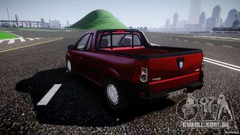 Dacia Logan Pick-up ELIA tuned para GTA 4 traseira esquerda vista