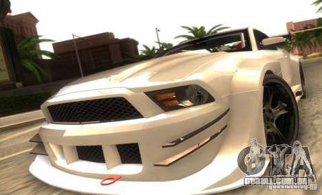 Ford Mustang Shelby GT500 V1.0 para GTA San Andreas esquerda vista
