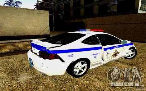 Acura RSX-S polícia para GTA San Andreas vista superior