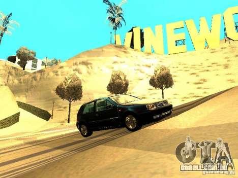 Volkswagen Golf 4 GTI para GTA San Andreas esquerda vista