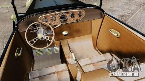 Ford Model T Sabre 1924 para GTA 4 vista interior