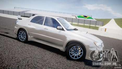 Subaru Impreza STI Wide Body para GTA 4 esquerda vista