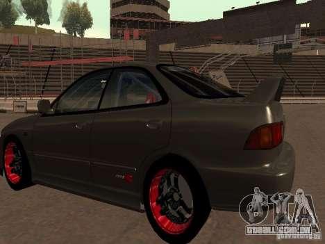 Honda Integra TypeR para GTA San Andreas vista direita