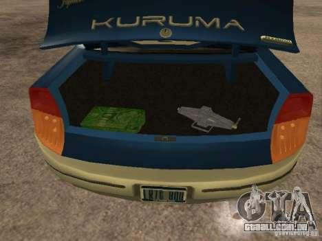 HD Kuruma para GTA San Andreas vista traseira