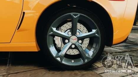 Chevrolet Corvette C6 Grand Sport 2010 para GTA 4 vista superior