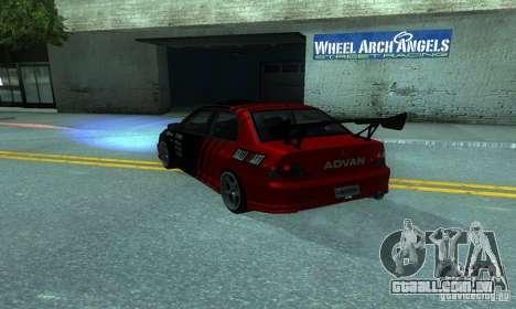 Mitsubishi Lancer Evo 8 Tunable para GTA San Andreas traseira esquerda vista