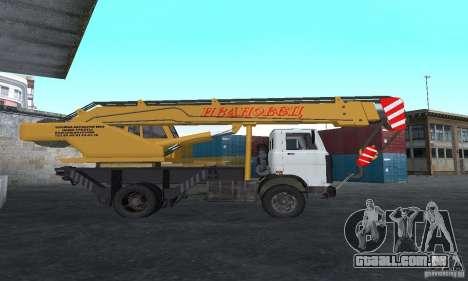 MAZ caminhão guindaste para GTA San Andreas esquerda vista