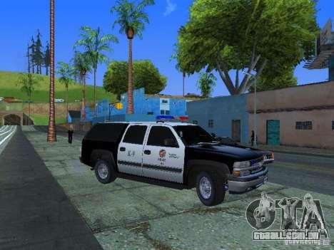 Chevrolet Suburban Los Angeles Police para GTA San Andreas