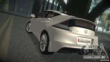 Honda CR-Z 2010 V1.0 para GTA San Andreas vista direita