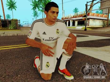 Cristiano Ronaldo v1 para GTA San Andreas quinto tela