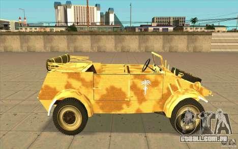 Kuebelwagen v2.0 desert para GTA San Andreas esquerda vista