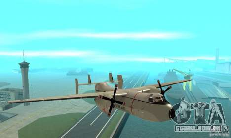 C-2 Greyhound para GTA San Andreas vista traseira