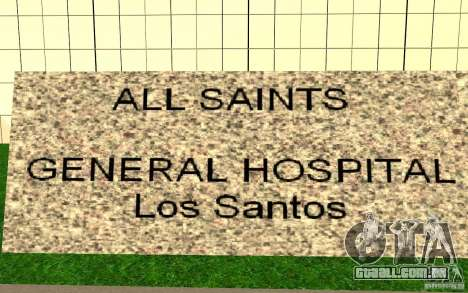UGP Moscow New General Hospital para GTA San Andreas terceira tela