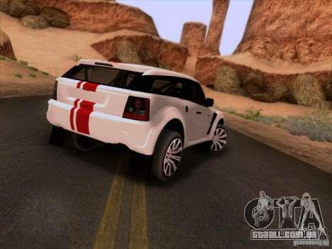 Bowler EXR S 2012 para GTA San Andreas vista direita