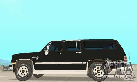 Chevrolet Suburban FBI 1986 para GTA San Andreas traseira esquerda vista