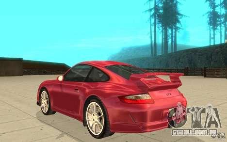 Porsche 911 (997) GT3 v2.0 para GTA San Andreas traseira esquerda vista