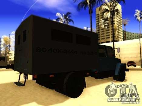 Fila dupla de GAZ 3309 para GTA San Andreas vista traseira