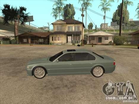 BMW E38 M7 para GTA San Andreas esquerda vista