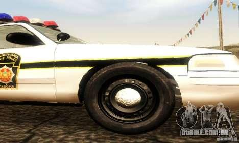 Ford Crown Victoria Pennsylvania Police para GTA San Andreas vista direita