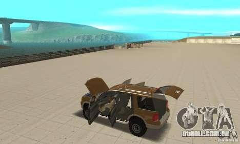 Ford Explorer 2002 para GTA San Andreas vista superior