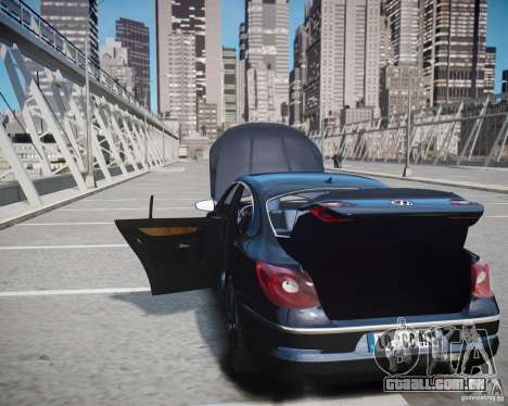 Volkswagen Passat CC para GTA 4 vista inferior