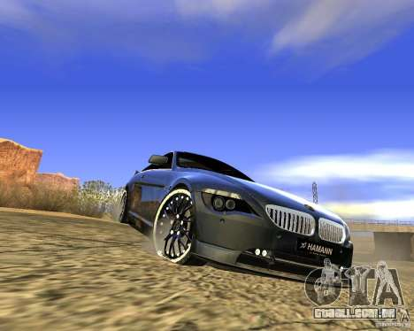 BMW M6 para vista lateral GTA San Andreas