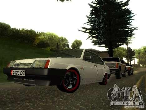 VAZ 21099 v. 2 para GTA San Andreas vista traseira