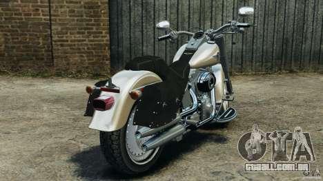 Harley Davidson Softail Fat Boy 2013 v1.0 para GTA 4 traseira esquerda vista