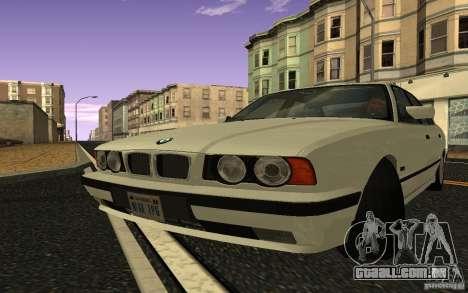 BMW 525 (E34) V.2 para GTA San Andreas traseira esquerda vista