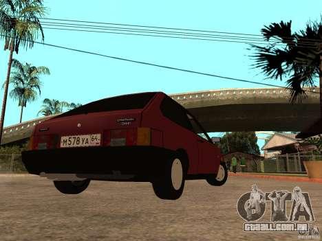 VAZ 2108 dreno para GTA San Andreas traseira esquerda vista