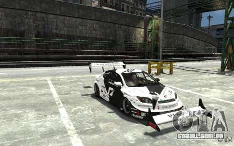 Scion tC AWD V1.0 para GTA 4 vista de volta