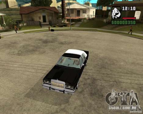 Lincoln Town Car 1986 para GTA San Andreas vista interior