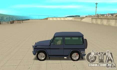 Mercedes-Benz G500 1999 Short [with kangoo v2] para GTA San Andreas esquerda vista