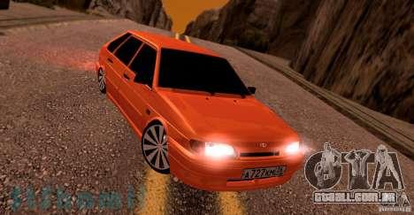 Ваз 2114 suculenta laranja para GTA San Andreas