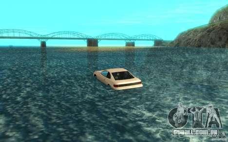 Alpha boat para GTA San Andreas traseira esquerda vista