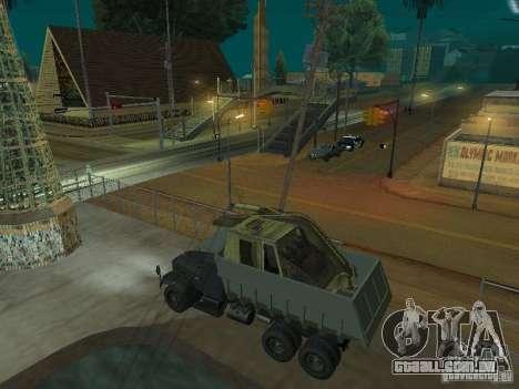 KrAZ-256b1-030 para GTA San Andreas traseira esquerda vista